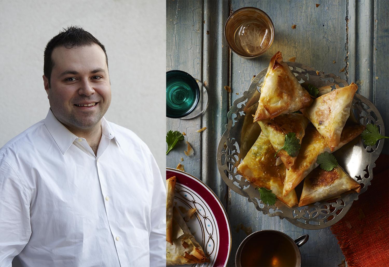 Chef Philippe Agnello Chicken Briouats step by step - Delicious Magazine - Final Dish & Portrait