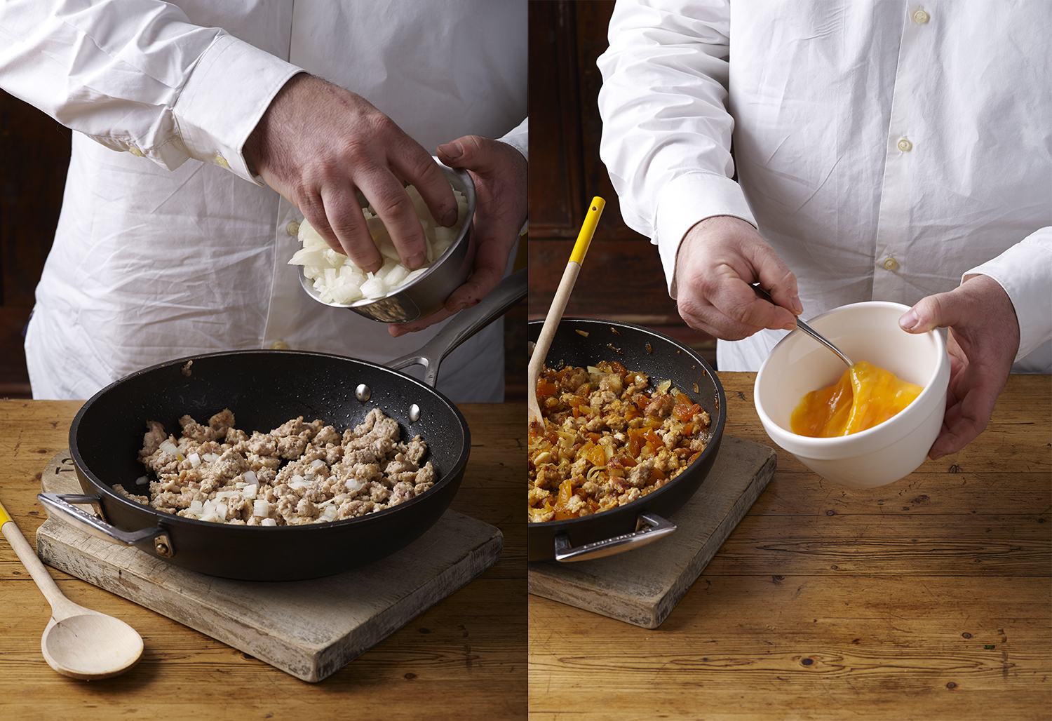Chef Philippe Agnello Chicken Briouats step by step - Delicious Magazine - Step 1