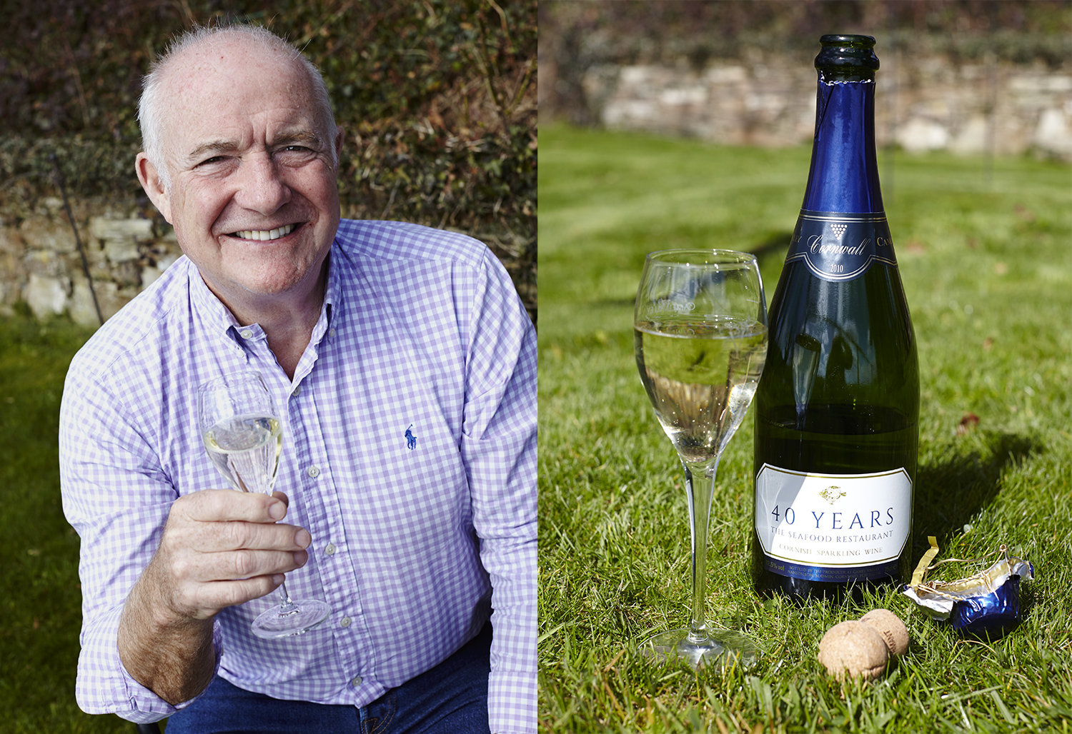 Rick Stein & The Seafood Restaurant 40th Anniversary feature in Delicious magazine - drink photography, white wine