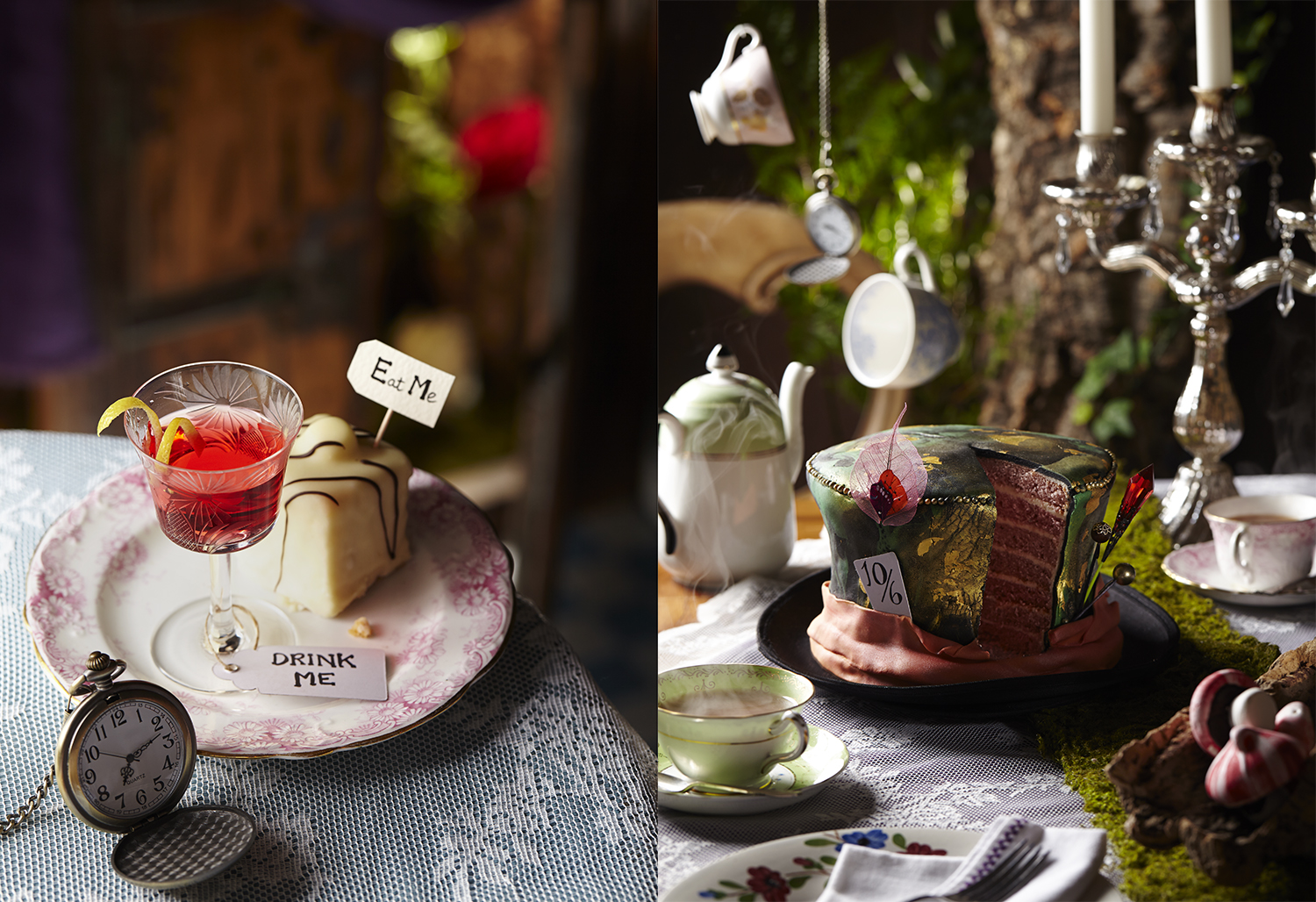Alice in Wonderland themed Food and Drink Photography 1