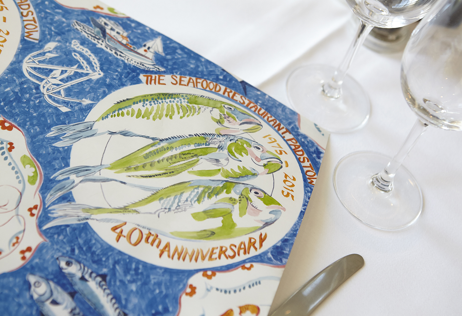 Rick Stein & The Seafood Restaurant 40th Anniversary feature in Delicious magazine