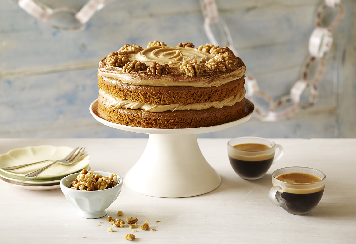 Cake Photography for the Betty Crocker Online Recipe Collection - Coffee Walnut Cake