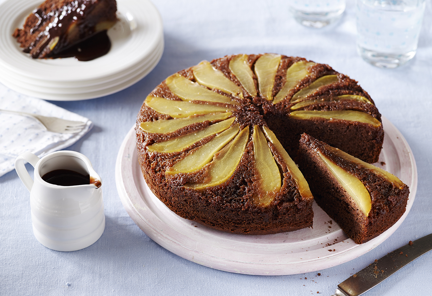 Cake Photography for the Betty Crocker Online Recipe Collection - Pear Upside Down Cake