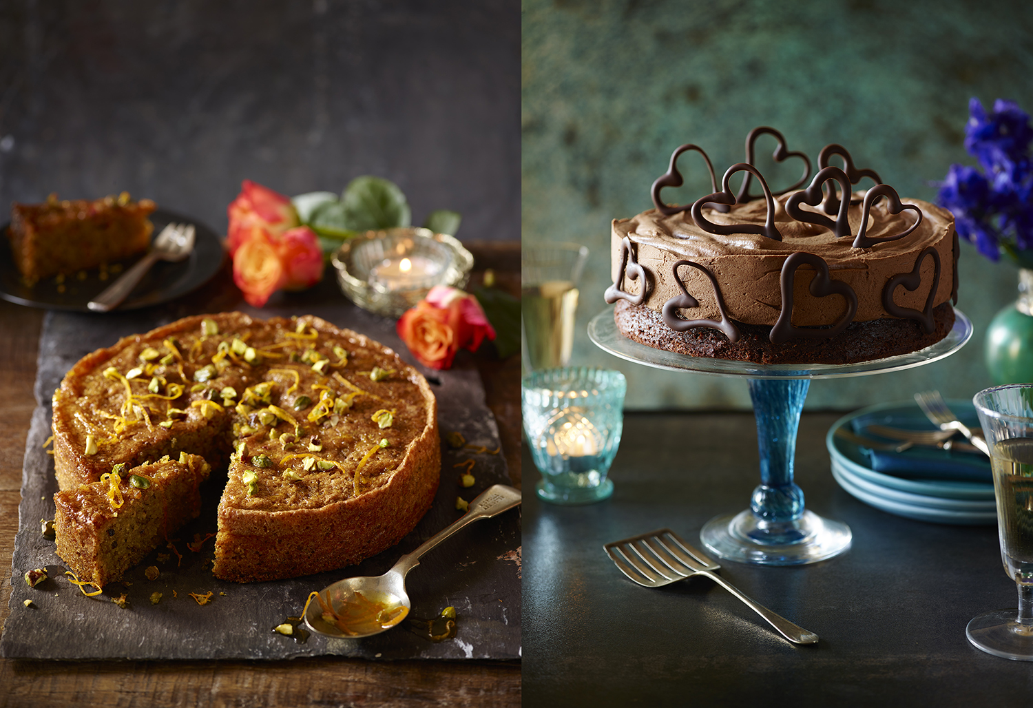 Sainsbury's Baking Book - Orange Blossom Polenta Cake Photo by Food Photographer Lauren Mclean