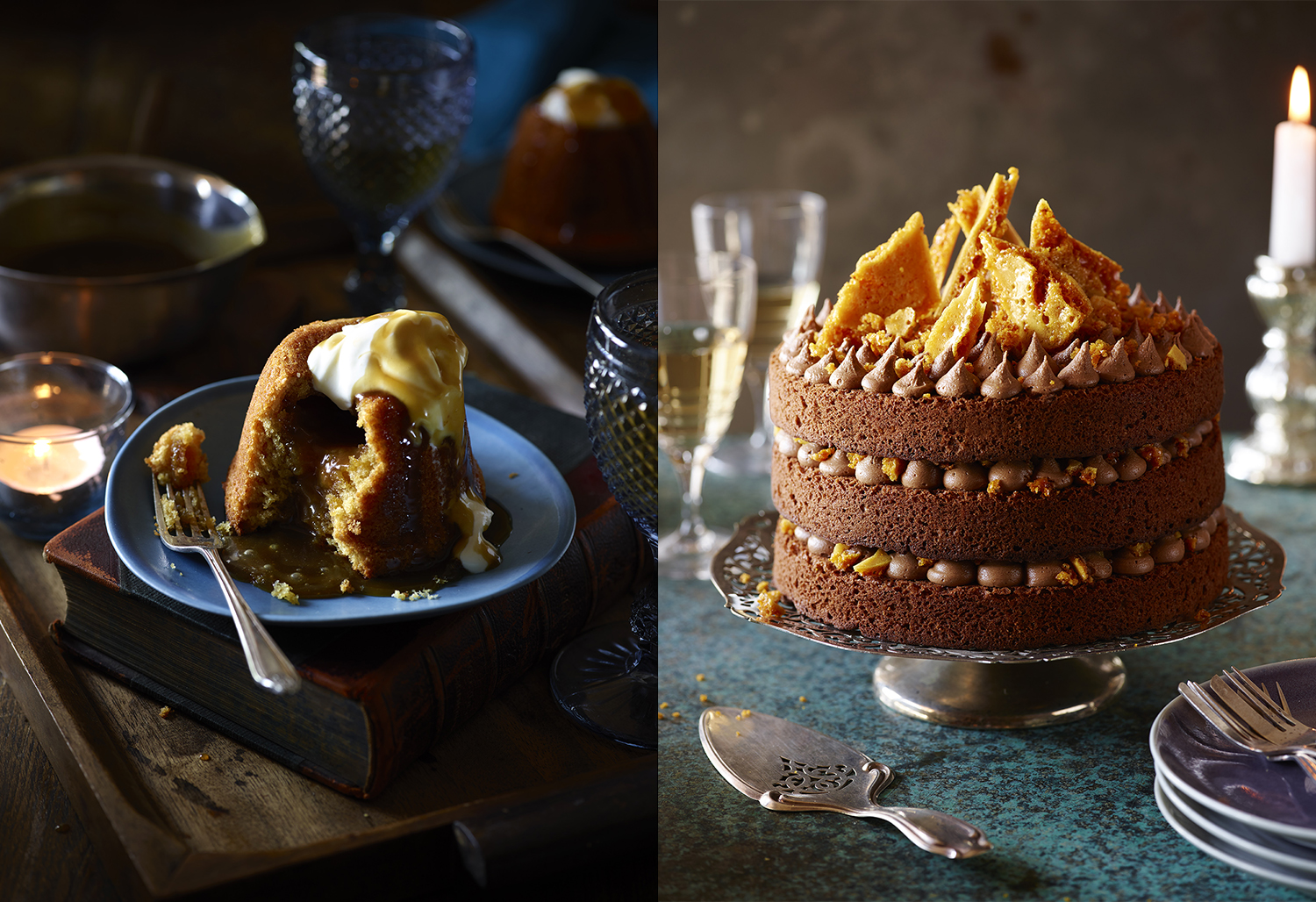 Sainsbury's Baking Book - Molten Butterscotch Puddings Photo by Food Photographer Lauren Mclean